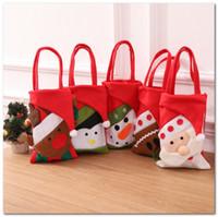 عشية عيد الميلاد حقيبة تخزين الحلوى عيد الميلاد الاطفال إلكتروني سانتا كلوز الأيائل حقيبة عيد ميلاد سعيد هدية غرفة الزينة حقيبة يد C5844