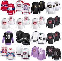 2020 Custom Ice Hockey Montreal Canadiens 21 Nick Cousins Jersey 15 Jesperi Kotkaniemi 53 Victor Mete 44 Nate Thompson 100th Aniversário