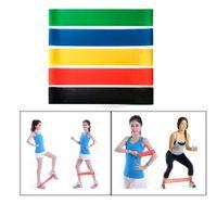 5 cores elástico yoga resistência à resistência de borracha bandas goma para equipamentos de fitness exercício exercício pull tração trecho trecho