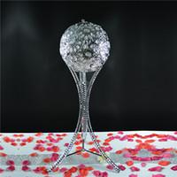 Kristal Kadeh Mumluk Çiçek Topu Gümüş Akrilik Centerpiece Düğün Events Dekorasyon için