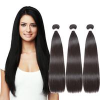الشعر البرازيلي نسج حزم مستقيم 100 ٪ شعرة الإنسان طول مختلط حزم اللون الطبيعي ريمي HairWeft الشعر التمديد