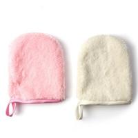 Démaquillant serviettes réutilisables en tissu microfibre visage Serviette de bain Gant de nettoyage Outil cosmétiques Puff Maquillage F3528 Soins du visage