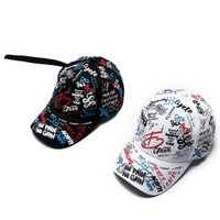 Hip Hop Style Spring Hat Boys And Girls Graffiti Printing Ad...