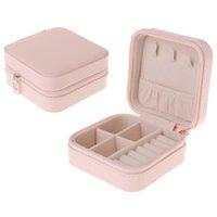 Стенд ювелирных изделий Портативная коробка Zipper PU хранения Органайзер держатель Упаковка дисплей Подарочные коробки для женщин