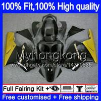 Iniezione OEM per Kawasaki ZX 12R ZX1200 1200cc 2002 2003 2004 2005 2006 224MY.13 ZX 12 R ZX12R ZX12R 02 03 04 05 06 oro carenatura nera