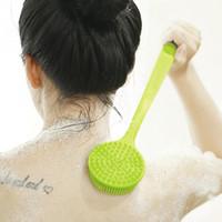 Brosse de corps de silicone longue poignée nettoyage douche gommage brosse de bain pour épurateur arrière peau exfoliante PPA276
