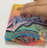 sigaretta 3,5 grammi Secco Erba aromatica, Fiore imballaggio Borse Major League Esotici Childproof Borsa Mylar Zipper Borse