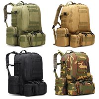 55L Large Capacity 3D Waterproof Military Tactical Backpack ...