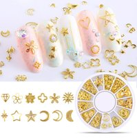 3D Hollow Nail Art Decoration Metal Mixed Shapes GeometryGol...