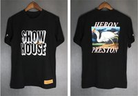 HERON PRESTON Designer Mens Tshirts Pullover Girocollo Coppie Top INS Hot Style Adolescente Tees