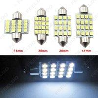 vendita all'ingrosso lampadine LED auto bianche 31mm 36mm 39mm 41mm 16-SMD 1210/3528 chip festone cupola mappa auto da carico luce LED # 1216