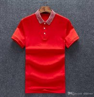 New Style Fashionable Men' s Polo Shirt Designer Slim Sh...