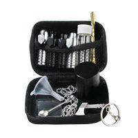 Табачный нюхательный комплект Snorter Aluminum Snorter Infiff Dispenser Nasal Металлическая контейнер для хранения банку барной бутылкой для барной банки металлическая ложка
