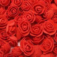 2см Декоративные Медвежонок Роза ППЭ Искусственный букет Для дома Свадебные украшения DIY Венок Поддельный цветок 500pcs / мешок