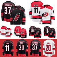 캐롤라이나 허리케인 유니폼 37 Andrei Svechnikov 11 Staal 20 Sebastian Aho 53 Jeff Skinner Hockey Jerseys