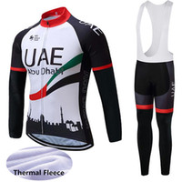 New Winter Thermal Fleece Mangas largas Ciclismo Jerseys Uae Mountain Bike Ropa Ropa deportiva Ropa de bicicleta Ropa Ciclismo 121103y