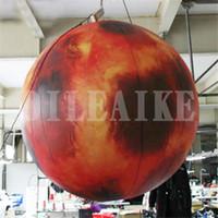 شحن مجاني 2M قطر نفخ القمر الإعلان اللعب في الهواء الطلق الصمام مضاءة نفخ القمر العالم لمهرجان منتصف الخريف