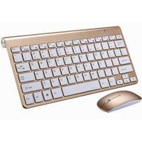 50 pcs 2.4g teclado sem fio e mouse mini multimídia teclado mouse combinado conjunto para notebook laptop Mac desktop pc de tv office fontes