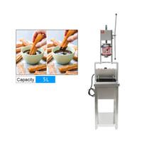 máquina del fabricante 5L churros comercial con 20L eléctrica Litros profundo FryerStainless acero Spainish churros que forma la máquina