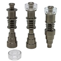 Universal Domeless 6 in 1 Titanium Nails 10mm 14mm 18mm Joint Male & Female GR2 Domeless Nail Glass Bong Dab Rigs Tool