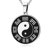 Collana pendente personalizzata in acciaio inossidabile Yin Yang in acciaio inossidabile