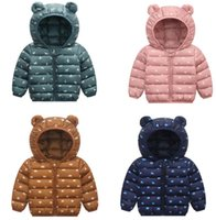 Горячая продажа Детские Зимние куртки Свет Дети Белая утка вниз пальто младенца куртки для девочек Для мальчиков Верхняя одежда Толстовки Parka Puffer пальто