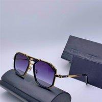 nuova 659/3 Top Fashion designer occhiali da sole di business uomini semplici telaio vetri quadrati memoria speciale metallo morbido protezione UV400 Eyewear