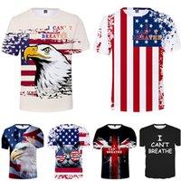 패션 남성 t- 셔츠 나는 캔트 숨 3D 프린트 T 셔츠 여름 남성은 짧은 소매 O 넥 T 셔츠 탑 캐주얼 티 캐주얼 스포츠 t- 셔츠 의류