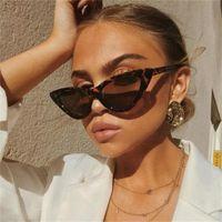 """солнцезащитные очки """"кошачий глаз"""" для женщин модельер женские солнцезащитные очки треугольные cateye черные модные пляжные модные очки"""