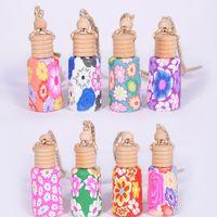Hängendes Seil Polymer Clay Leere Flaschen 15ml Ätherisches Öl Parfüm Auto Dekoration Mix Farben Auto-Diffusor-Flaschen