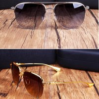 New Chrome Sonnenbrillen Fashion Men Polarisierte Sonnenbrillen Metall Big Frame Sonnenbrillen Markendesigner Übergroße Sonnenbrille mit Originaletui