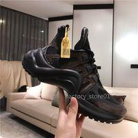 2019 Novas Sapatas Das Mulheres Dos Homens Chaussures Bonito Plataforma Sapatilhas Casuais de Luxo Designers Arch Sapatos Cores de Couro Vestido Tênis Sapatos Botas