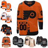 Coutume Flyers de Philadelphie Stade de hockey sur glace de la série 79 Carter Hart Jersey 17 Wayne Simmonds 28 Claude Giroux Nolan Patrick Winter Classic