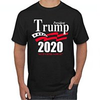 Trump 2020 T- Shirt Make America Great Again Black Printing C...