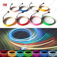 10 ألوان 100 سنتيمتر * 14 ملليمتر 1 متر شريط الشريط el الأسلاك الباردة ضوء قطاع السيارات المحيطة ضوء dc 12 فولت # 4468