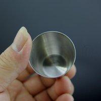 30ML حار بلون أكواب الفولاذ المقاوم للصدأ المحمولة للأغراض العامة النظارات الحمراء البيرة كوب صغير يمكن إعادة استخدامها كؤوس النبيذ T2I5210