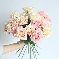 50pcs che spedice liberamente il diametro 7.5cm che incantano i mazzi di cerimonia nuziale artificiali all'ingrosso i fiori della rosa della sorgente di cerimonia nuziale della decorazione floreale domestica della decorazione dell'hotel