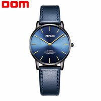 DOM Ultra thin Ladies Watch Brand Luxury Women Watches Waterproof Rose Gold Stainless Steel Quartz Wrist Watch femme G-36BL-1MT