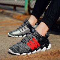 Calzados informales calientes y cómodos para zapatillas de deporte suaves con cordones y transpirables 2018 verano otoño adultos Sapatos masculinos