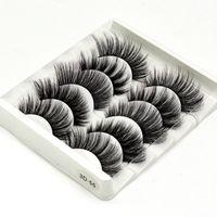 Nuevos 5 pares de pestañas de visón 3D falsas pestañas de visón pestañas falsas naturales suaves maquillaje esponjoso tenue extensión de pestañas