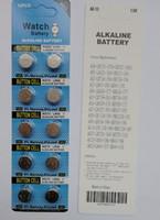 1000Packs AG13 LR44 A76 1.5V Alkaline-knoopcellen, 10 stks per blisterkaartpakket 0% HG PB AG13