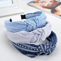 Womens Headband Twist Hairband Bow Knot Cross Tie Velvet Hea...