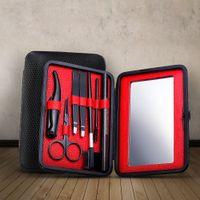 XYj Kit per la cura delle sopracciglia 7 PCS / Set Set di strumenti per trucco per sopracciglia con astuccio per matita Trimmer per forbici
