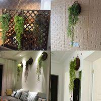 Topselling Künstlicher hängender Ivy Garland Pflanzen Rebe Gefälschte Laub Blatt Glyzinien Home Decoration Supplies