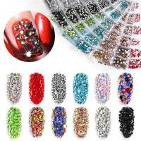 1300pcs блестящий кристалл ногтей горный хрусталь алмаз наклейки ногтей маникюр ногтей ювелирные изделия камень аксессуары SZ255 8,13