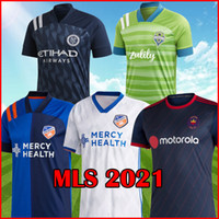 New York City FC 2021 away blue socer jerseys 2020 2021 FC C...
