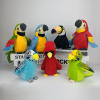 QWOK Waving Wing Electric Talking Parrot Toy Record ripete il regalo di compleanno Boy Girl Toys 2019 Impara a parlare di uccelli