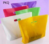 100 stücke kleine große plastiktüten mit griff benutzerdefinierte geschenkbeutel kunststoff einkaufen mit griff förderung verpackung tasche