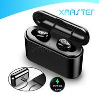 마이크가 상자 소매 패키지 xmaster 충전과 X8 블루투스 TWS 이어 버드 5D 진정한 무선 스테레오 헤드셋 스포츠 IPX6 방수 Inear 헤드폰