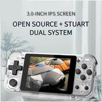 POWKIDDY Q90 3 inç IPS El konsolu çift açık sistem oyun konsolu PS1 çocuklar hediye 3D yeni oyunlar 10pcs DHL Retro 16 simülatörleri ekranı